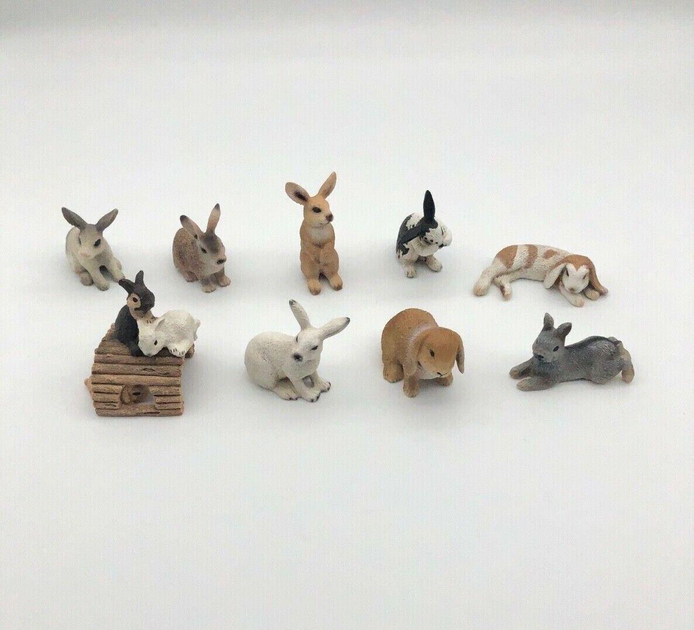 Schleich Hasen Widderchen Widderkaninchen Kaninchen Schneehase Wildkaninchen