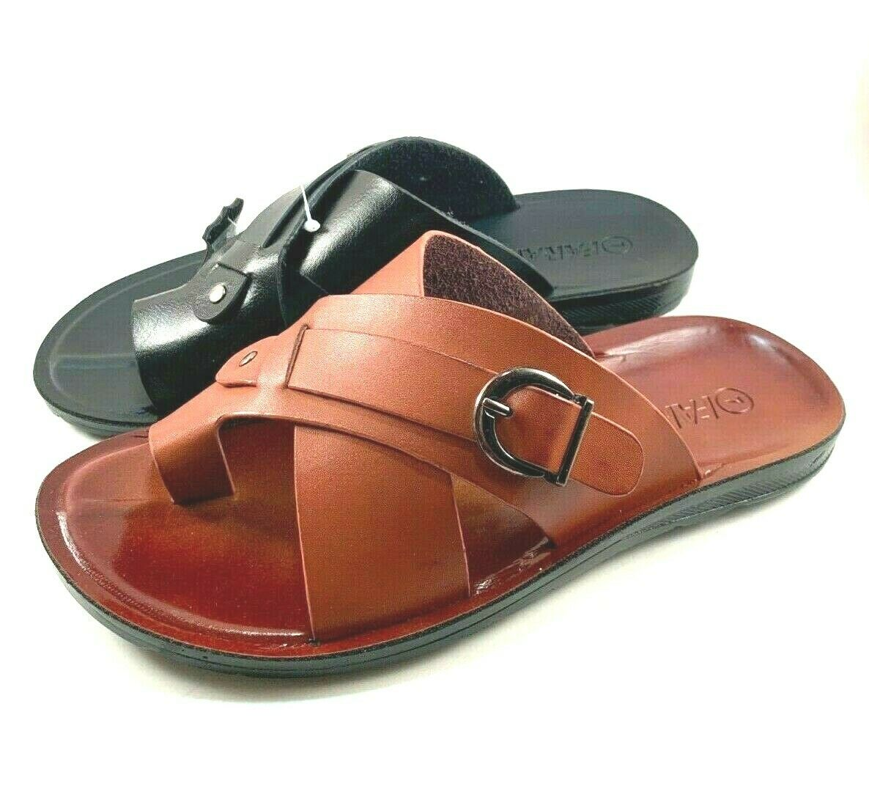Faranzi FR81492 Leather Men's Slip On Sandals Choose Sz/Color