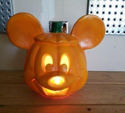 Vtg Disney Mickey Mouse Halloween Pumpkin Lighted Blow Mold 1996 Trendmasters