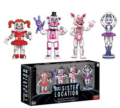 New 2017 Five Nights At Freddys 4 Pack 2  Mini Figure Serie 3 Sister Location