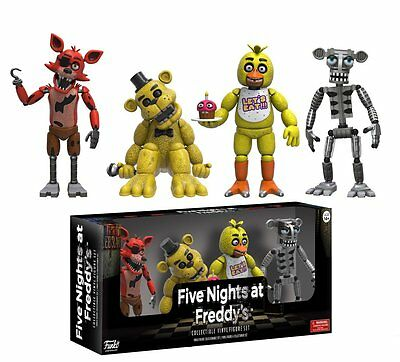 Five Nights At Freddys 4 Pack 2  Mini Figure Foxy Gold Freddy Chica Skeleton