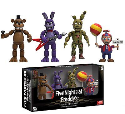 New Five Nights At Freddys 4 Pack 2  Mini Figure Bonnie  Springtrap Bb In Stock
