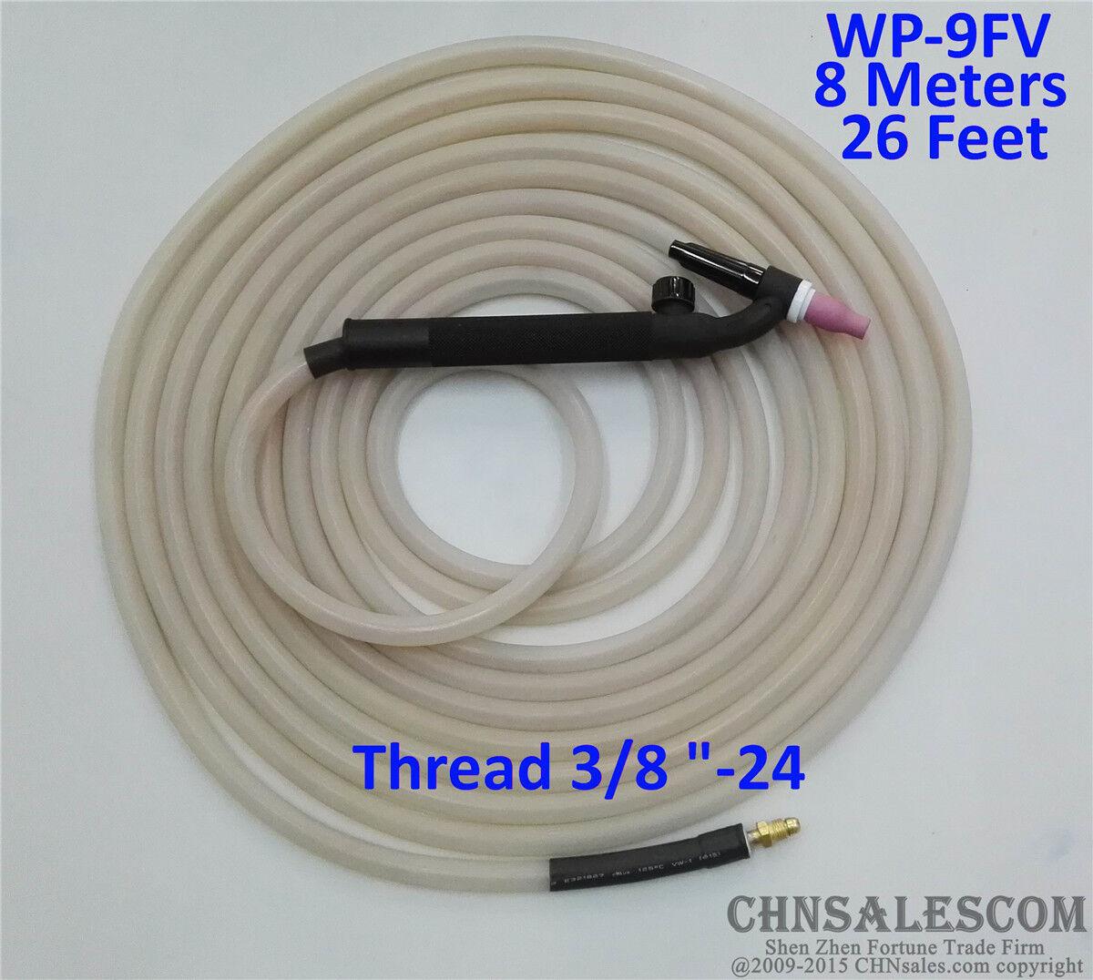 WP-9FV Tig Welding Torch Silica Gel Hose 4.15 Metre  Super Soft and Flexible