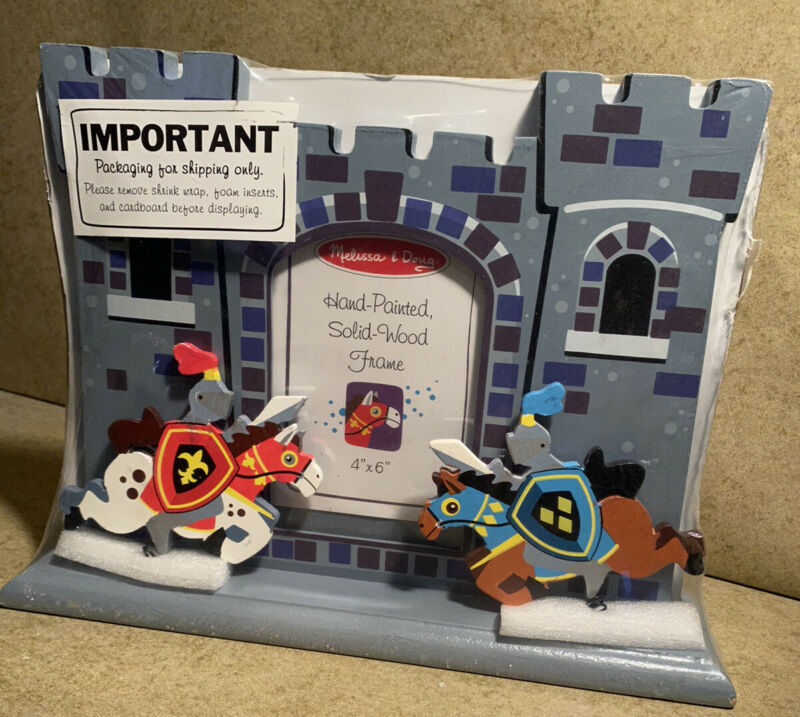 Melissa & Doug Hand Painted Solid Wood Frame Medieval Knights & Castle