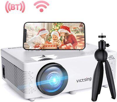 VicTsing Mini WiFi Projector-4200L Wireless Bluetooth Projector with Tripod, 108
