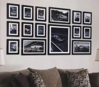 15pcs Wood Wooden Effect Multi Picture Photo Frames Collage Set Various Colors  ()