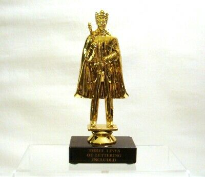KING  PAGEANT KING TROPHY  PROM KING BLACK MARBLE FREE LETTERING for sale  Shipping to Canada
