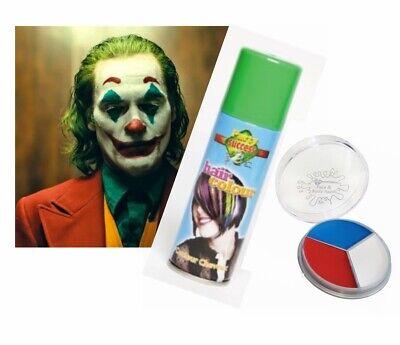 Paint Joker Face (Halloween Joker Clown Temporary Green Hairspray Blue White Red Face Paint )