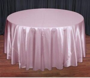 Satin Baby Pink Tablecovers 120