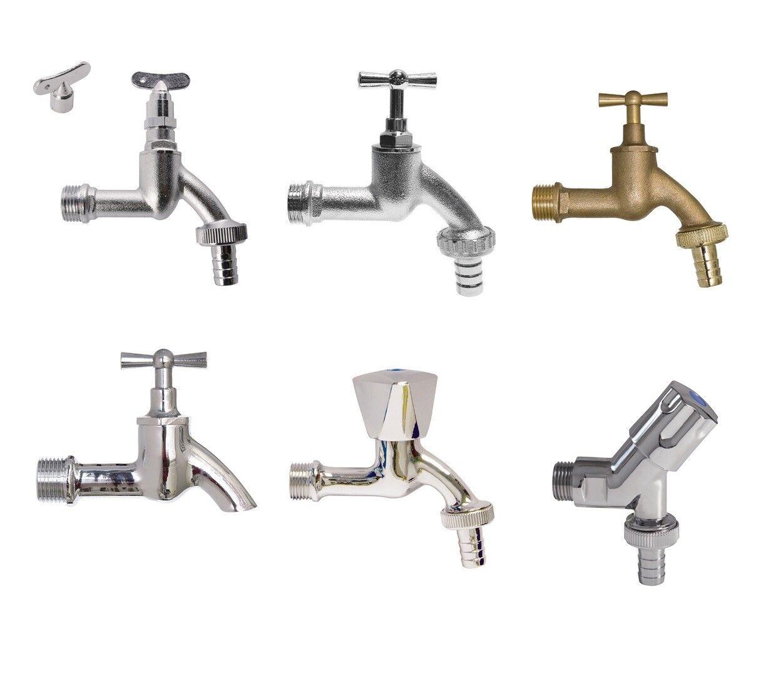 Steckschlüssel für Auslaufventil Wasserhahn Außenzapfstelle  4-kant verchromt