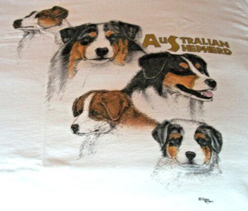 "Australian Shepherd T-shirt  "" White "" SM ( 34 ~ 36 )"