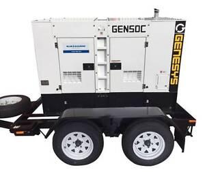55 KVA Diesel Cummins Generator Trailer Mounted - 415V - 1500 RPM Gordon Ku-ring-gai Area Preview