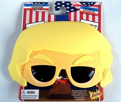 Funny PRESIDENT DONALD TRUMP SUNGLASSES Cartoon Hair Wig Mask Adult Be Huge Joke