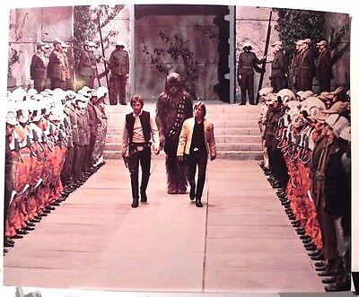 """STAR WARS ""  ORIGINAL VINTAGE 1977 LARGE ORIGINAL PHOTO PRINT SET  4 RARE"