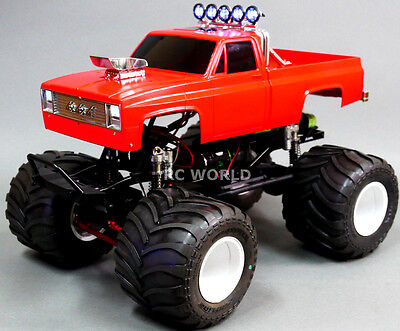 Axial Scx10 1 10Th Rc Monster Truck Chevy Pickup 4Wd Rock Crawler 8 4V W  Led