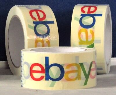 3 Official Ebay Branded With Multi-color Logo Packaging Supply Shipping Tape