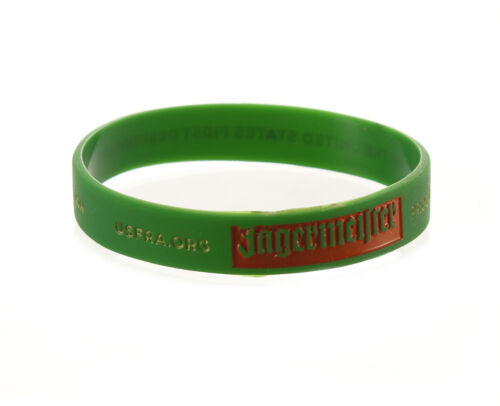 (10) NEW GREEN JAGERMEISTER ARM-BAND WRIST-BAND USFRA.ORG