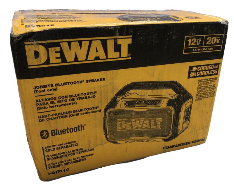 BRAND NEW DEWALT DCR010 12V / 20V MAX Corded /Cordless Jobsite Bluetooth Speaker
