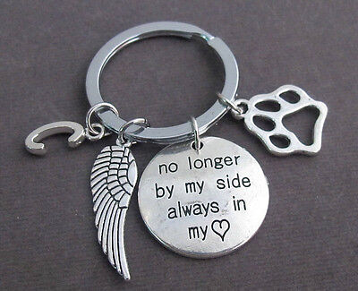 Pet Memorial Keyring,Dog Memorial KeyChain,Dog Remembrance Keyring,Dog Paw charm