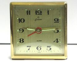 Endura Alarm Table/Desk Vintage Clock-Easy to Read Dial- Working! NOS