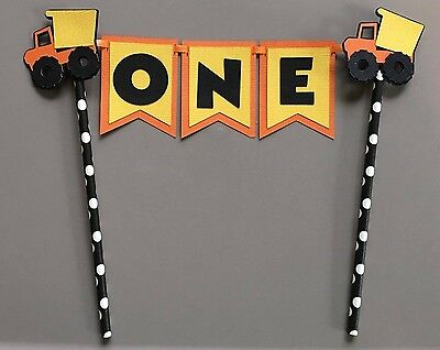 Construction Dump Truck Cake Topper. Great For Birthday Party. Free Shipping!