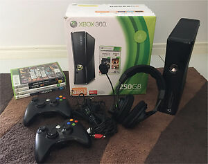 Xbox 360 console + 4 games + turtle beach mic and headphones Maudsland Gold Coast West Preview