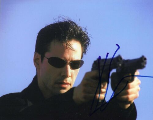Keanu Reeves Signed 10X8 Photo GENUINE SIGNATURE The Matrix AFTAL COA (5504)