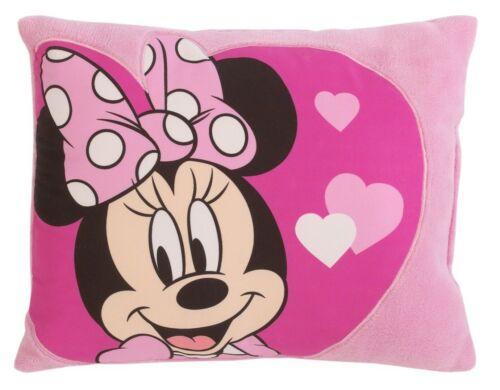 Minnie Mouse Appliquéd Pink Hearts Decorative Pillow by Disney