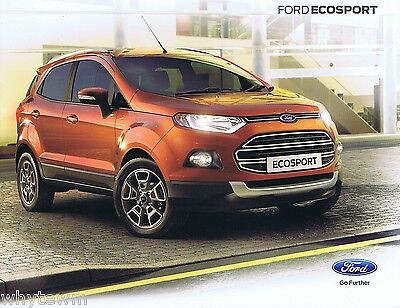 FORD Ecosport - UK brochure/leaflet 2013