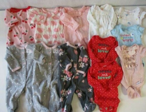 Baby  Girl Preemie Sleepers & Bodysuits Sleepwear Lot
