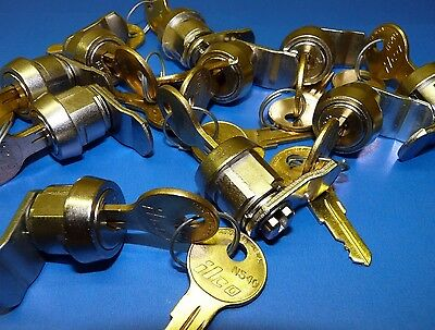 Lot Of 10 - 12 Cam Lock Set With Latch Choice Ilco N54g 2 Keys