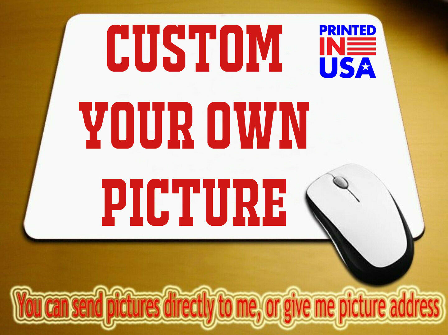 Custom printed mouse pad Photo  logo design Image or text  p