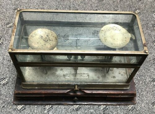Antique Glass Pharmacy Drug Store Scale - The Torsion Balance Co. NY STYLE 269