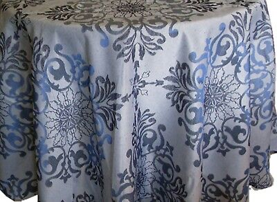 Assorted Sizes Elegant Jacquard fabric Tablecloths Polyester Blue by Direct2home - Blue Fabric Tablecloth