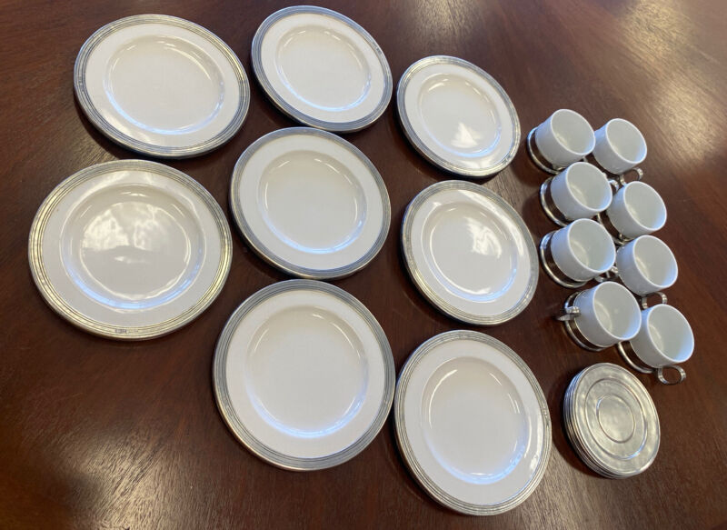 24Pc Tuscan by ARTE ITALICA Flat Cups, Saucers & Salad/Dessert Plates