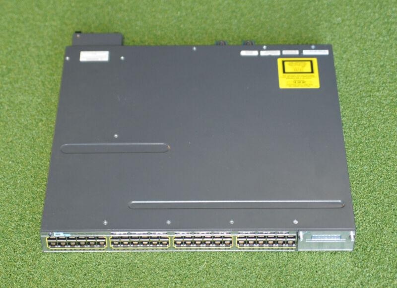 Cisco Catalyst Ws-c3750x-48pf-s 48-port Gigabit Poe Switch W/ C3kx-nm-10g Module