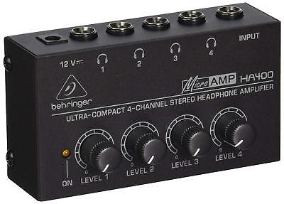 Behringer Microamp HA400 Ultra-Compact 4-Channel Stereo Head