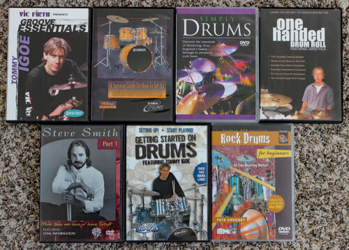 Drums Lot of 7 Instructional DVD
