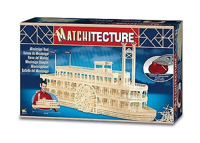 Matchitecture Mississippi Boat Matchstick Model Construction Craft Kit