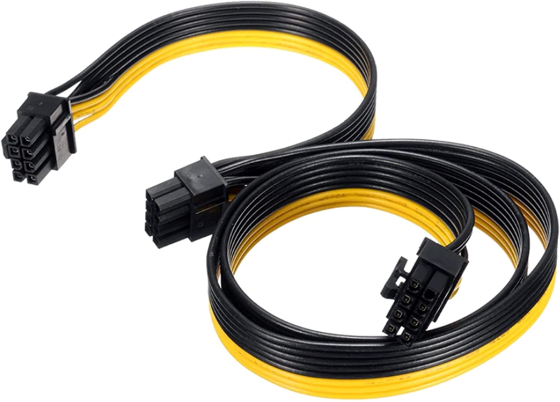 ATX 8 Pin Male To Dual PCIe 8 6 2 Pin Male,TeamProfitcom Power Adapter Cable Fo - $18.91