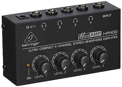 Behringer HA400 Microamp 4 Channel Stereo Headphone Amplifier