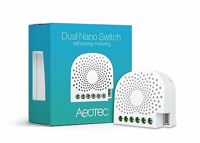 Aeotec Dual Nano Switch on / off controller with power metering, 2 switches,