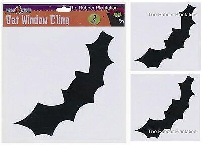 2pc Black Bat Silhouettes Halloween Party Spooky Window Decoration Prop (2 Pack) - Halloween Window Silhouettes Bat