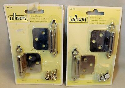 Cabinet Hinges By Newell Rubbermaid Co  Set Of 4 Chrome W Screws  New   Sealed