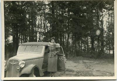 Orig. Foto AUTO 30er ADLER Cabrio junge Frau - Auto Frau Kostüme