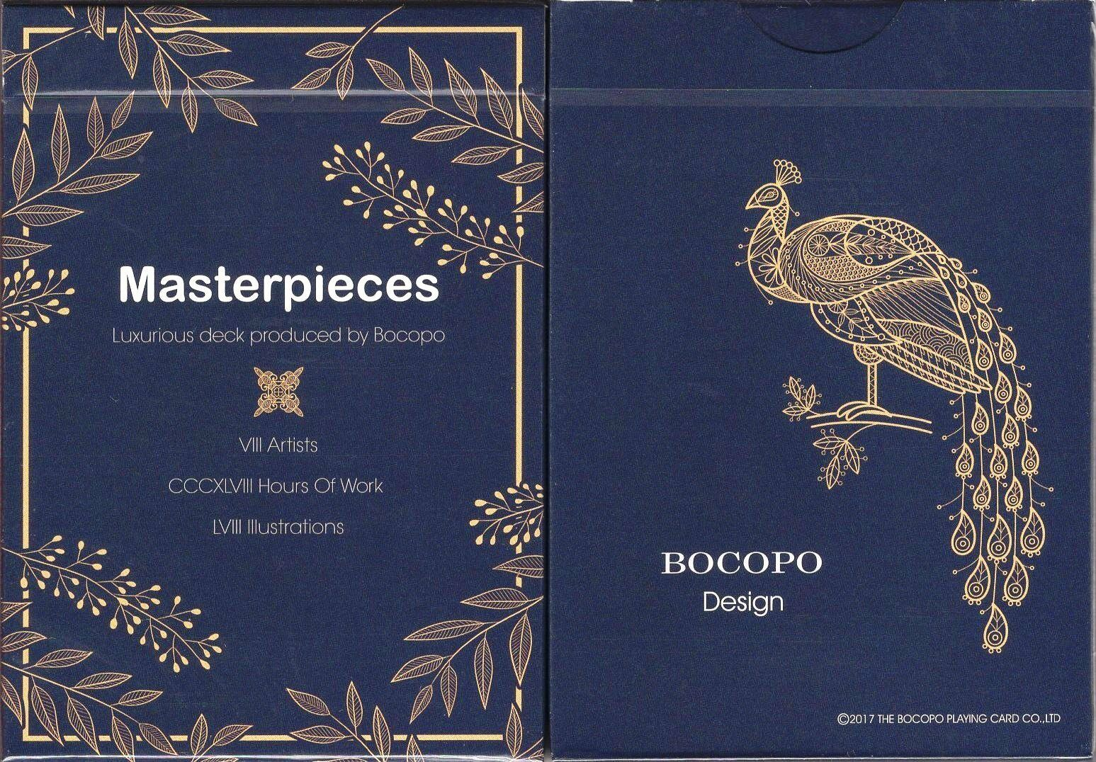 Masterpieces Playing Cards Poker Size Deck USPCC BOCOPO Custom Limited Edition