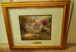 Signed Print Thomas Kinkade Home is where the heart is Certificate Authenticity
