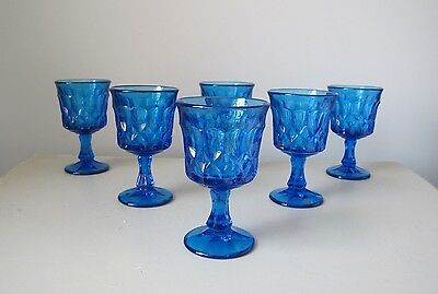 Noritake Perspective Blue Wine Glasses, Set of (6)