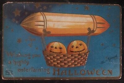 Halloween 1910 Movie (1910 West Barrington Usa Picture Postcard PPC Cover Halloween Greetings)