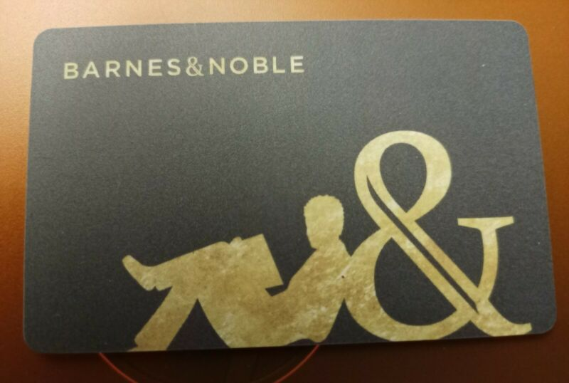 BARNES & NOBLE CLASSIC GREY Gift Card, 2021, Collectible Mint, PVC